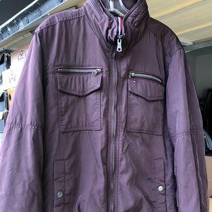 Tommy Hilfiger burgundy coat
